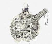 openwork silver cooling vessel (karlik), with the