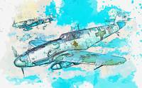 Messerschmitt Bf 109 WWII German Fighter Jet 2 wat