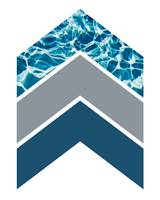 Grey Blue Water Chevron 1
