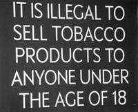 Tobacco age restriction sign