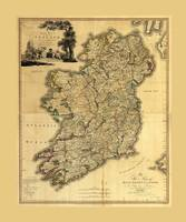 Map of Ireland by Daniel Augustus Beaufort (1797)