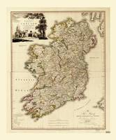 Map of Ireland by William Faden (1797)