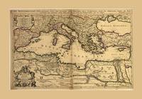 Mediterranean Sea Map (1685)