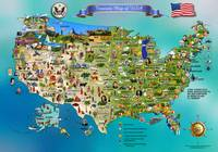 America's Treasure Map. USA