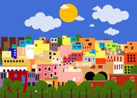 A colorful city in Mexico