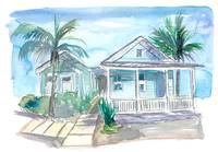 Key West Conch Dream House-Blue and Pastel Homes