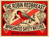 Robin Redbreast Safety Matches