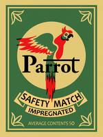 The Vintage Parrot Safety Match