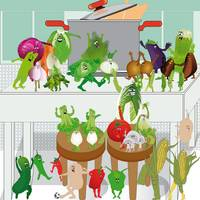Vegetables in the dance