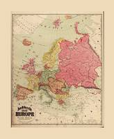 Rand McNally Map of Europe (1894)
