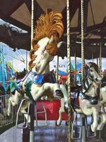 Carousel Horse With Flowing Mane