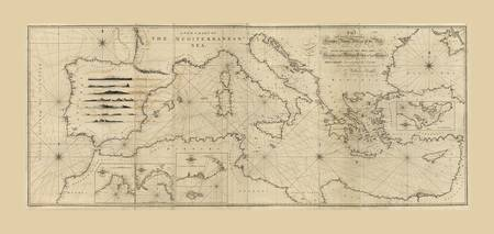 Mediterranean Sea Map (1797)