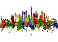 Dubai United Arab Emirates Skyline