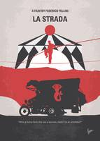 No1100 My La Strada minimal movie poster