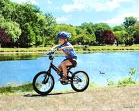 Boy on His Bicycle