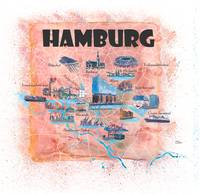 Hamburg_Germany_Illustrated_Map_with_Main Roads_La