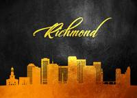 Richmond Virginia Gold Skyline