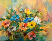 Impressionist Flowers Bouquet Oil Painting