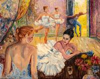 Young Ballerinas in Dance Studio Painting