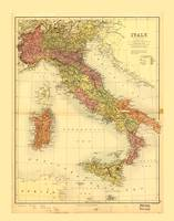 Map of Italy (1890)