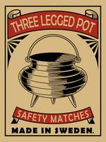 The Three Legged Pot Vintage Design