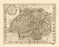 Switzerland and the country of the Grisons (1721)