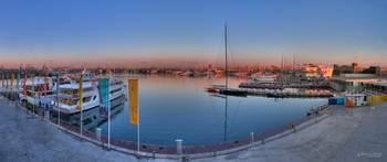 Panorama view of the 32nd America's Cup port