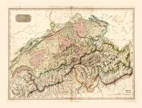 Switzerland (Swisserland) Map c. 1818