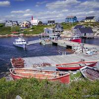 Old Boats in Peggy's Cove