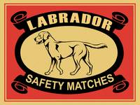 The Vintage Labrador Safety Match