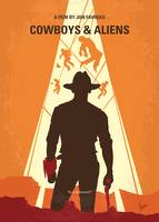 No1105 My Cowboys and Aliens minimal movie poster