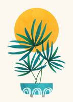 Little Palm - Retro Sunset Illustration