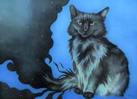The Shadow Cat in Blue