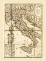 Map of Italy (1851)