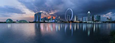 Singapore skyline, across the bay