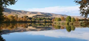 Prosser Autumn River Panorama