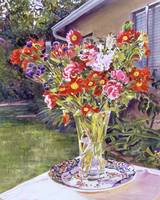 WATERCOLOR FLOWERS IN GLASS fa