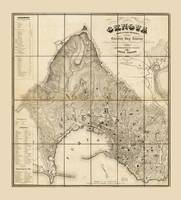 Map of Genoa, Italy (1853)