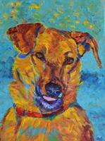 Dog portrait Pet Painting Animal Impressionist