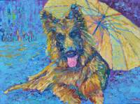Golden Retriever Best Dog Ever Pet Painting