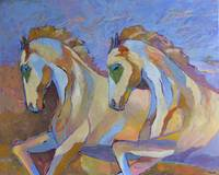 Horses Galloping Animal Portrait Home decor