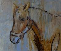 Horse painting modern artwork
