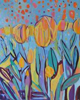Tulips Flower Floral Painting Modern Art