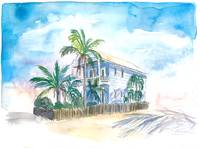 Key West Conch Dream House-The Blue House And Palm