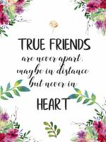True Friends Friendship Quote Gift Poster