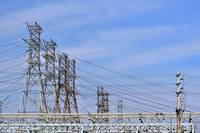 Electric towers.