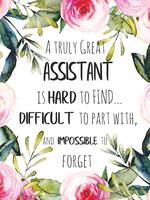 Assistant Gift Idea Great Assistant Quote