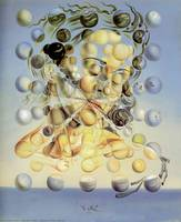 Salvador Dali Painting Atomic Galatea Famous art