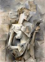 Pablo Picasso Girl with a Mandolin Cubism Abstract