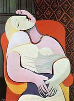 Pablo Picasso Woman sitting in a chair Famous Art